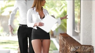 Tight skirt real estate agent screwed by a guy